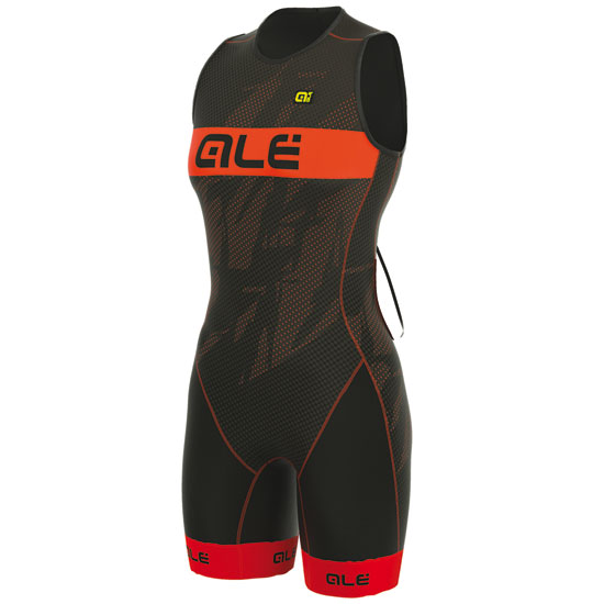 Body Ale Tri Record Zip Retro - Arancio Per Donna