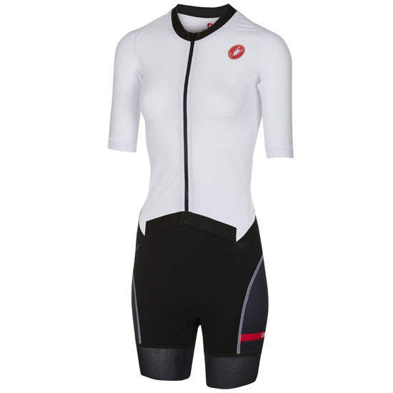 Body Castelli All Out Speed Suit - Bianco Per Donna