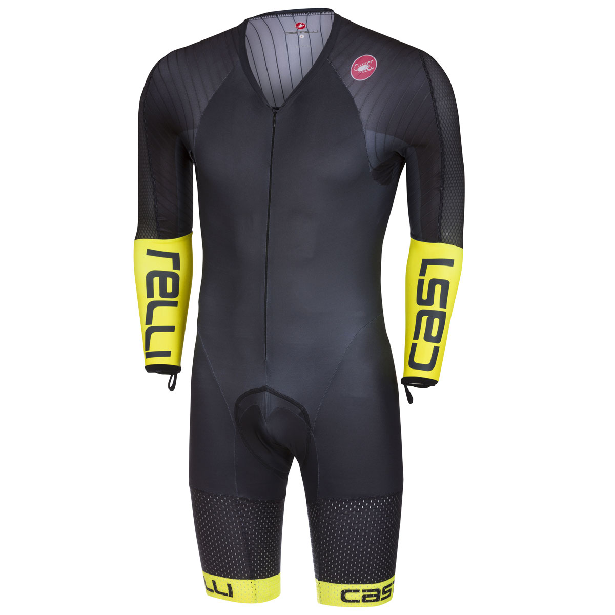 Uomo Body maniche lunghe Castelli Body Paint 3.3 Speed Suit - Giallo