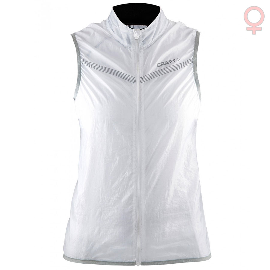 Donna Gilet antivento Craft Featherlight - Bianco