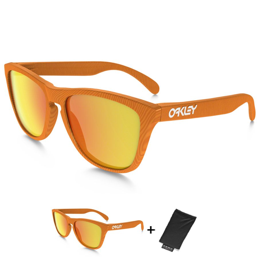 Uomo Occhiali Oakley Frogskins - Fingerprint Atomic Orange