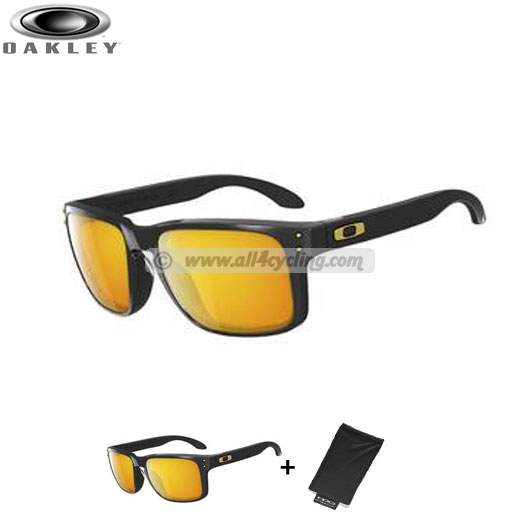 Uomo Occhiali Oakley Holbrook - Polished Black/24K Gold
