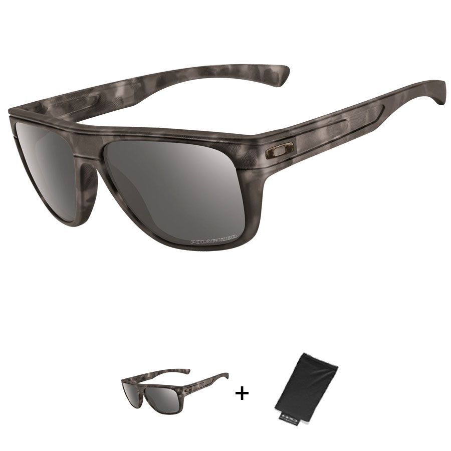 Uomo Occhiali Oakley Breadbox - Matte Black Tortoise Black Polarized