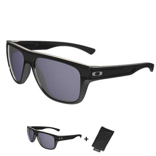 Uomo Occhiali Oakley Breadbox - Polished Black Grey
