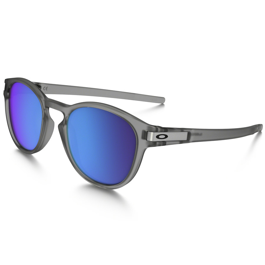 Uomo Occhiali Oakley Latch - Matte Grey Ink Sapphire Iridium Polarized