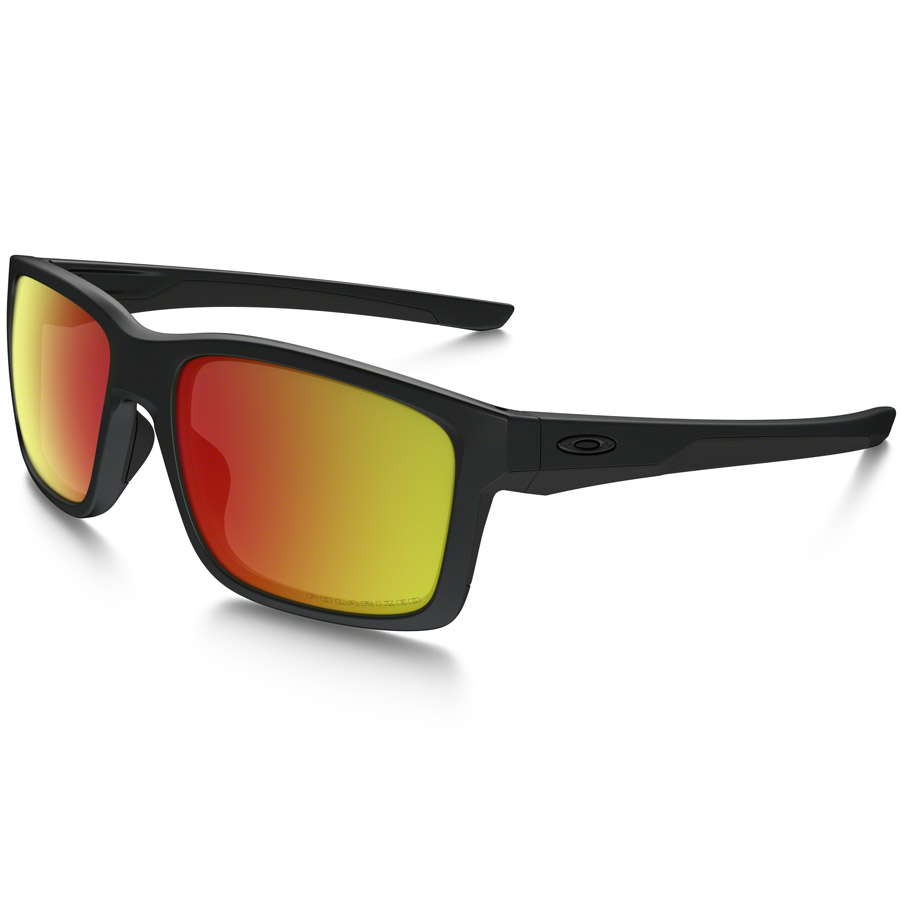 Uomo Occhiali Oakley Mainlink - Matte Black Ruby Iridium Polarized