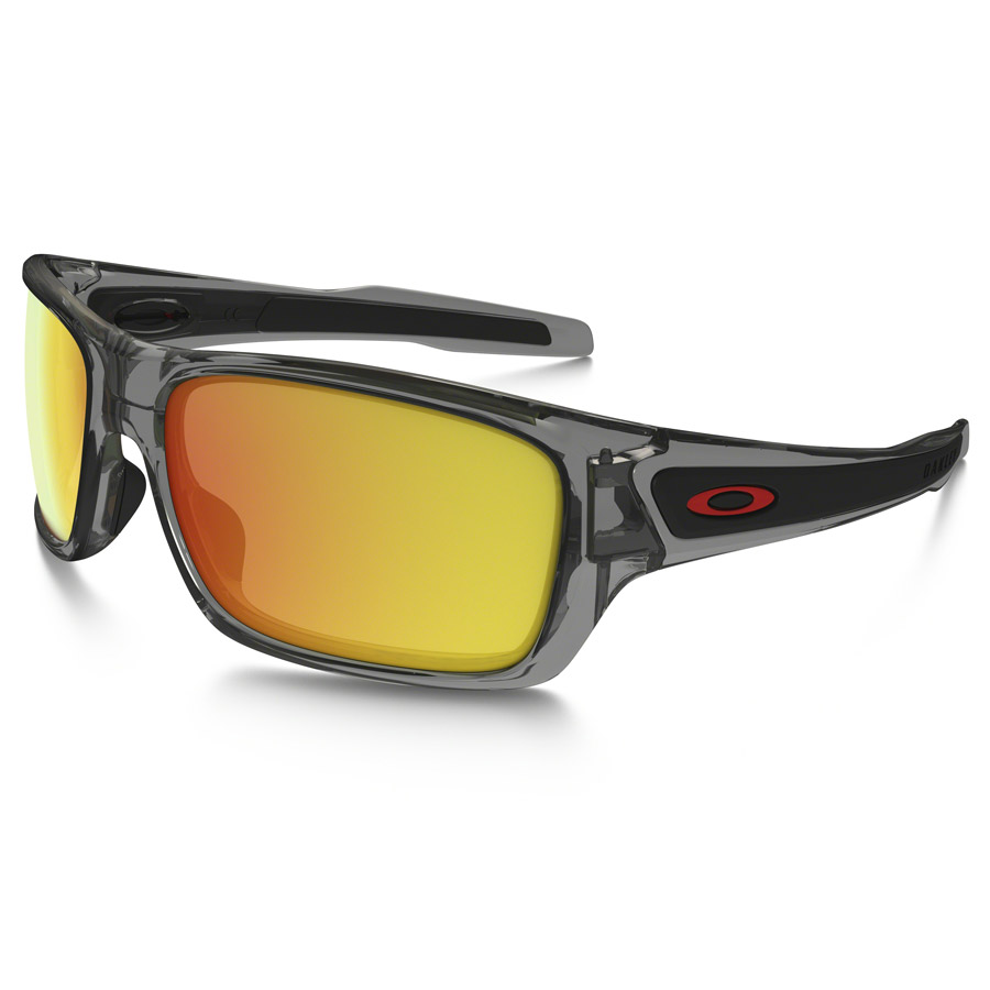 Uomo Occhiali Oakley Turbine XS - Grey Smoke Ruby Iridium