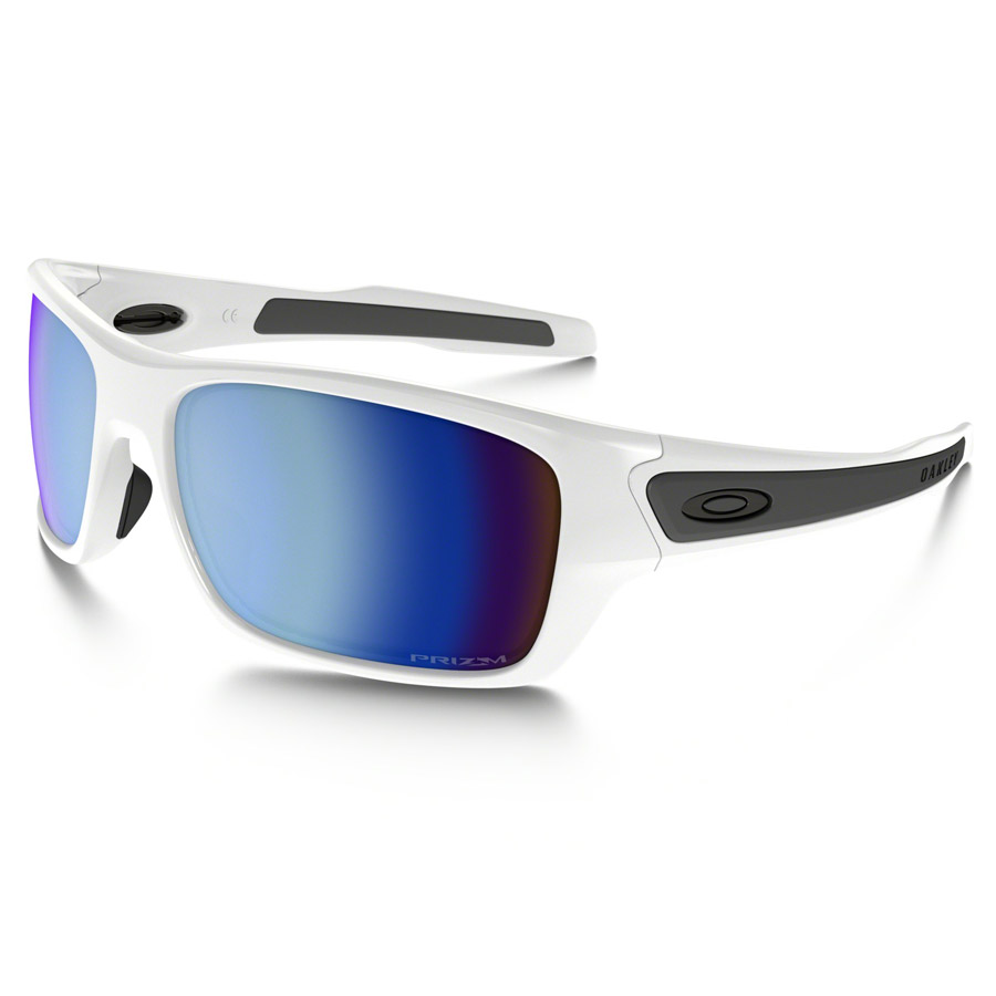 Uomo Occhiali Oakley Turbine XS - Polished White Prizm Deep H2O Polarized